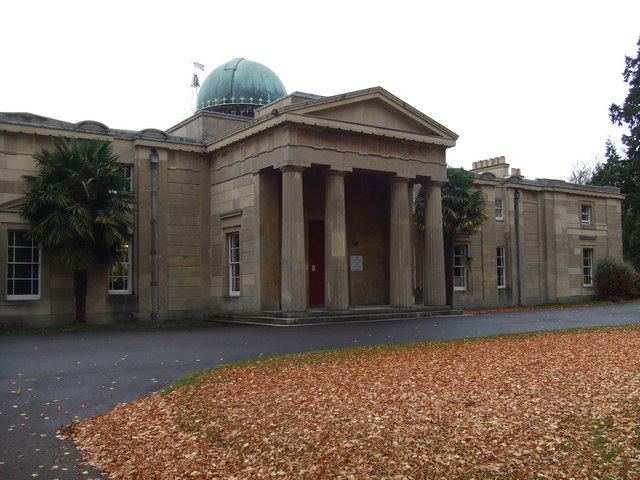 Cambridge Observatory and Autumn Leaves