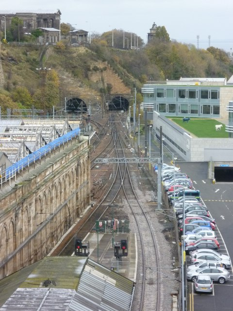 View of the Calton Tunnel from North Bridge