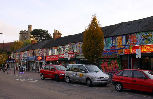 Painted shops on Cowley Road