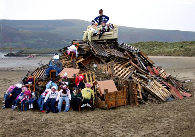 Beach bonfire with eighteen Guys!