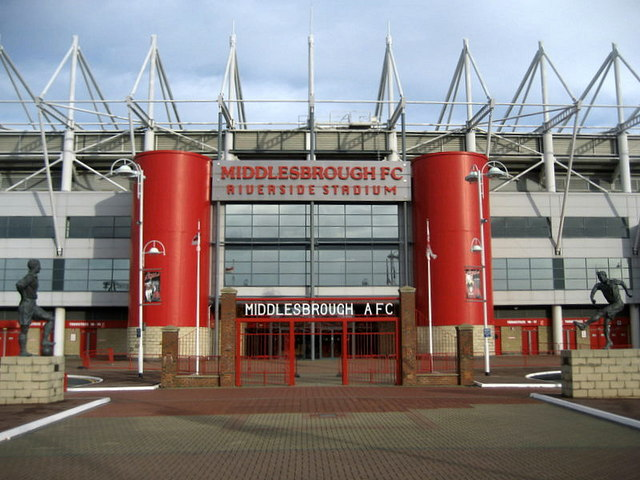 Entrance to the Riverside Stadium