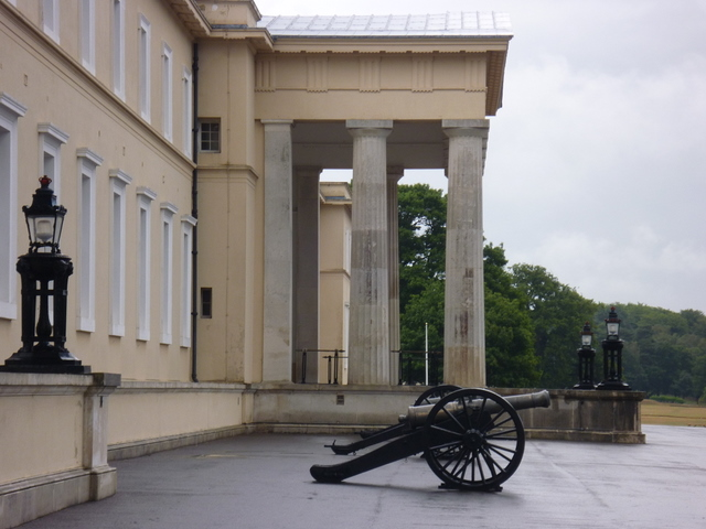 The central portico to Old College at RMA Sandhurst