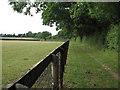 TL6859 : Footpath past stud farm by Hugh Venables