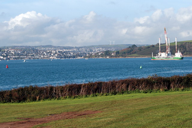 Falmouth Harbour from St. Mawes Castle car park