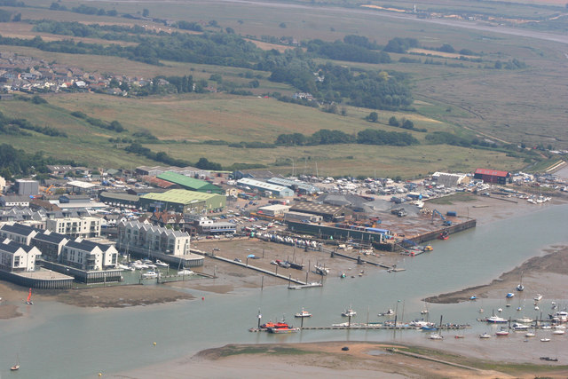 Aerial view of Brightlingsea