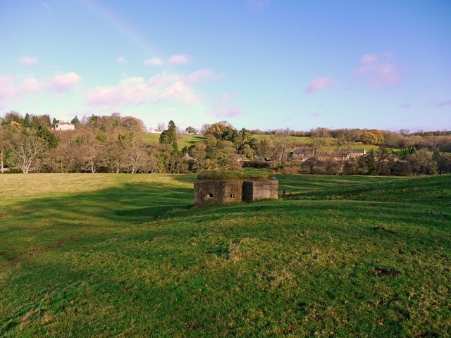 Pillbox, Adders Haugh, Mitford