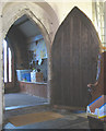 TQ3461 : All Saints church, Sanderstead: ancient door by Stephen Craven