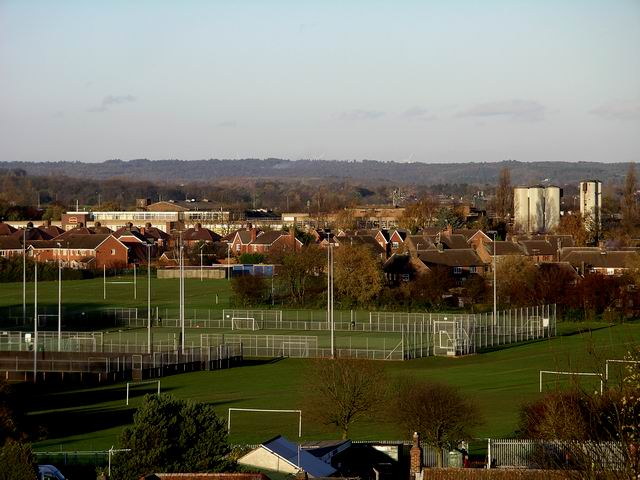 Looking towards Watnall from Kimberley cemetery