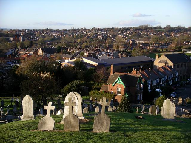 Kimberley from the cemetery