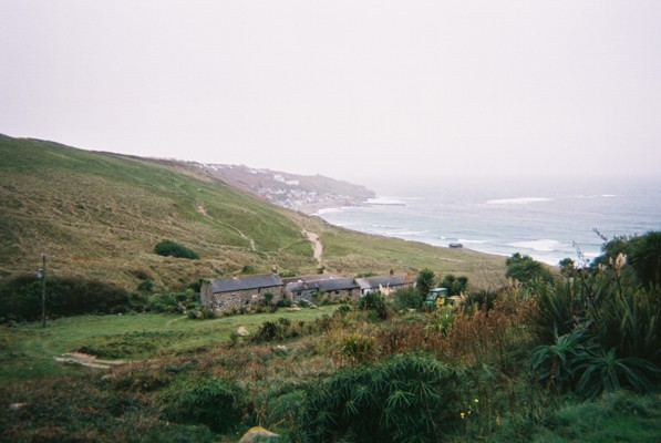 Cottages in Vellan Dreath Valley, Sennen, Cornwall
