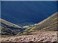 SN8376 : Nant Troed-y-rhiw descends towards Esgair-wen and Afon Ystwyth : Week 46