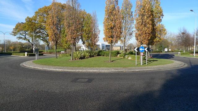 Roundabout near The David Lloyd gymnasium