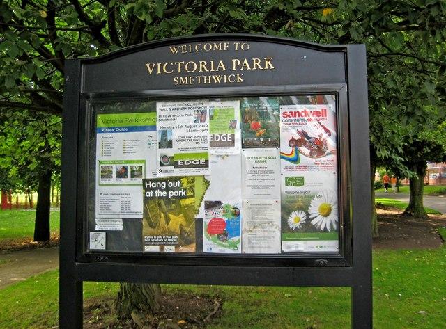 Victoria Park Notice Board P L Chadwick Geograph