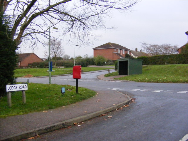 Lodge  Road & Orchard Valley Postbox
