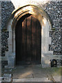 TQ3864 : St John the Baptist, West Wickham: south door by Stephen Craven