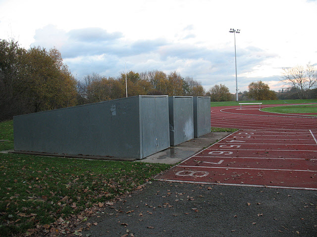 Norman Park athletics track: starting blocks