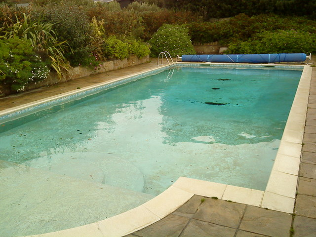 Swimming Pool Near Abbey Farm Cottages Andrew Abbott Geograph Britain And Ireland