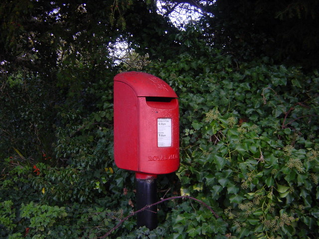 Modern Postbox by Boughton Malherbe Church