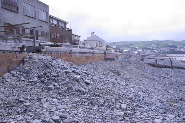Sea defence renewal, Borth