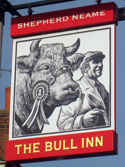 The Bull Inn sign