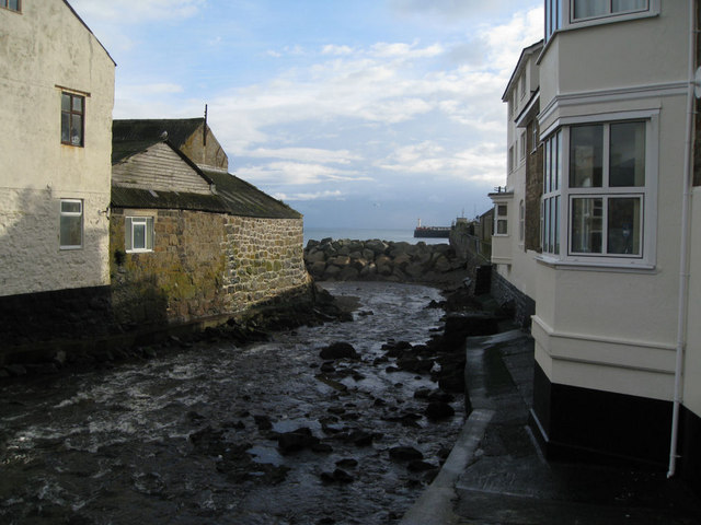 Outlet of Newlyn's Coombe River