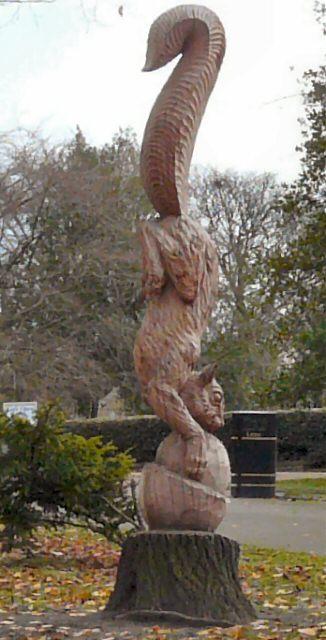 Squirrel sculpture gerald england geograph britain
