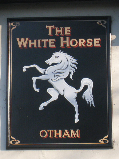 The White Horse sign