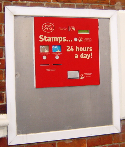 Modern Stamp Vending Machine Tufton St