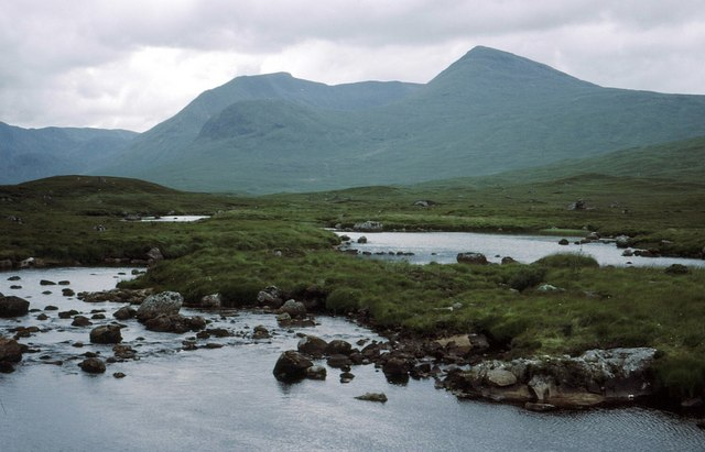 Looking west across Lochan na Stainge