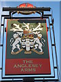 TQ4069 : The Anglesey Arms, Pub Sign, Bromley by David Anstiss