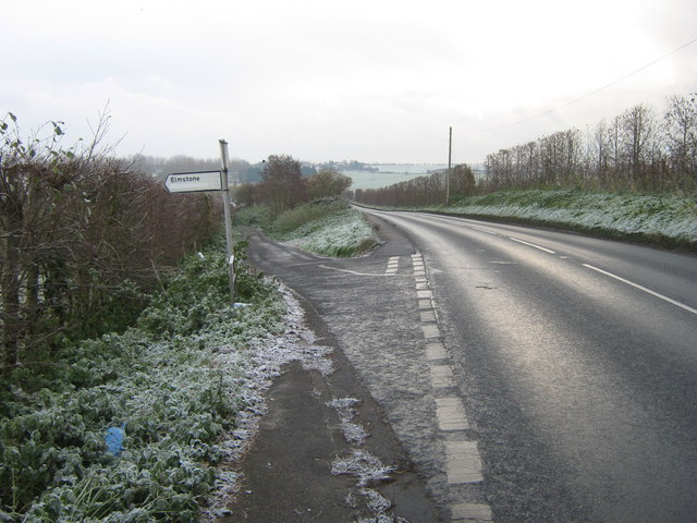 Road junction on the A257 Gobery Hill