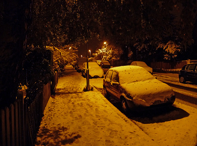 November snow, St Julian's Farm Road