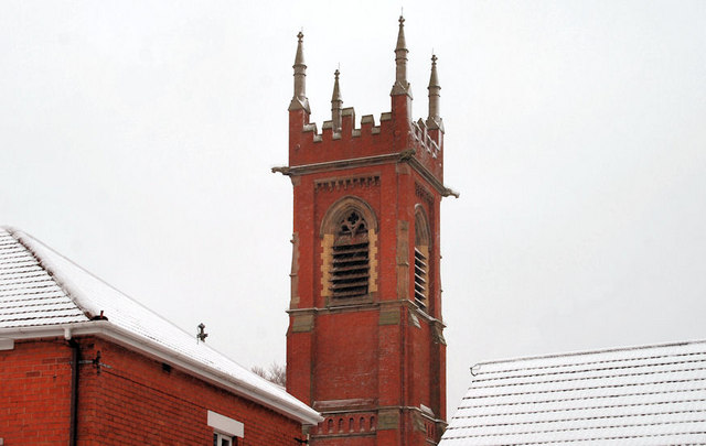 Tower, Belmont Presbyterian church, Belfast (2)