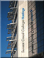 TQ8109 : Sussex Coast College Hastings sign by Oast House Archive