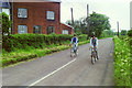 TL6919 : Cycling past the old mill, Cock Green, 1985 by Robin Webster