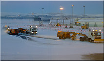 NS4766 : Snow-bound Glasgow Airport by Thomas Nugent