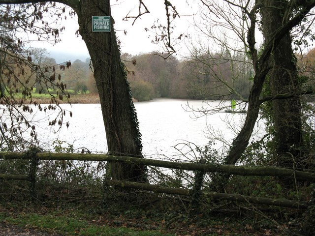 Private fishing at wiston pond dave spicer geograph for Private fishing ponds near me