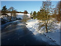 SK2570 : The Derwent at Chatsworth, frozen by Peter Barr