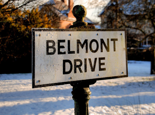 Belmont Drive sign, Belfast