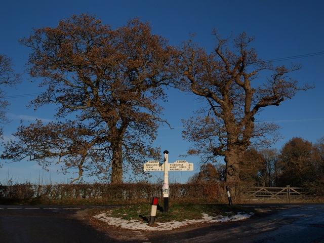 Signpost at Shover's Green
