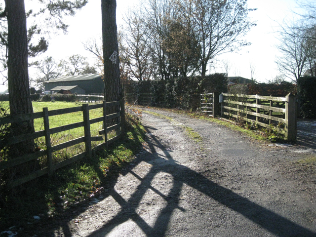 Track to Oak Farm, Knowle Grove