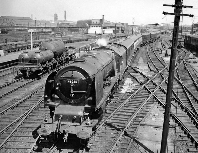 Crewe 53 years ago: the southbound Pines Express arrives from Manchester