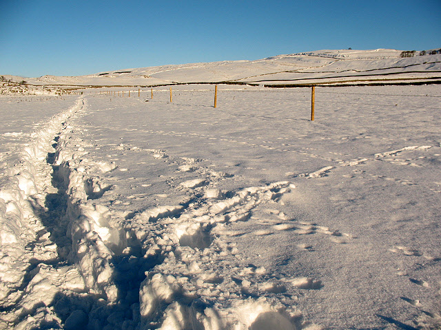 The Dales Way in snow