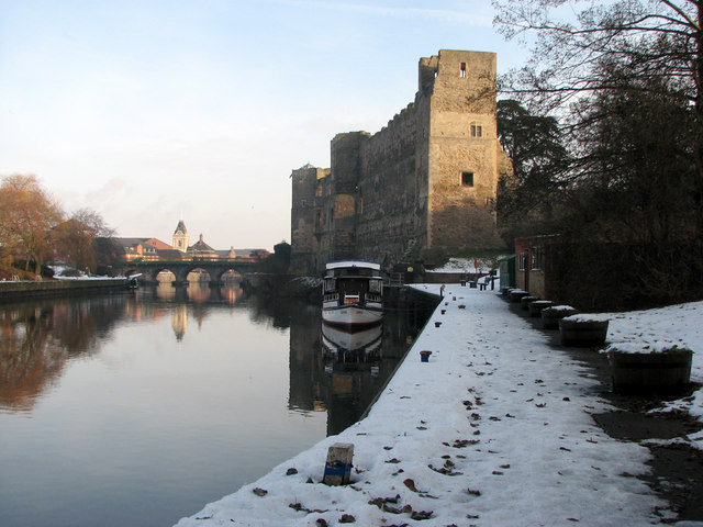 Newark Castle and the Trent