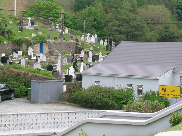 Gortahork Cemetery from the Christ the King Church steps