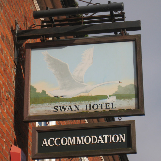 Swan Hotel sign