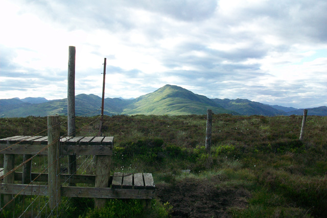 Stile on the summit of Ben Gullipen