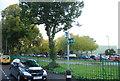 TQ7668 : Saxon Shore Way sign, Mill Rd by N Chadwick