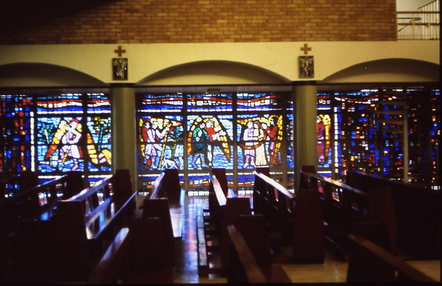 St Raphaels Catholic Church, Millbrook - stained glass