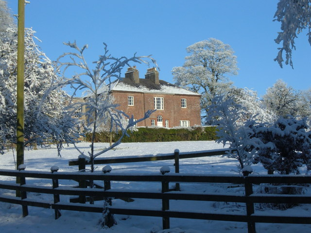 Freame Mount in winter – outpost of the Dartrey and Bellamont estates at Cootehill